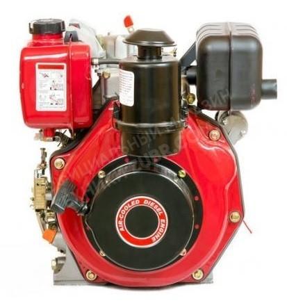Фото Двигатель Зубр 178FE (дизель, 6.0 л.с., вал 25мм, шлиц, электрозапуск)