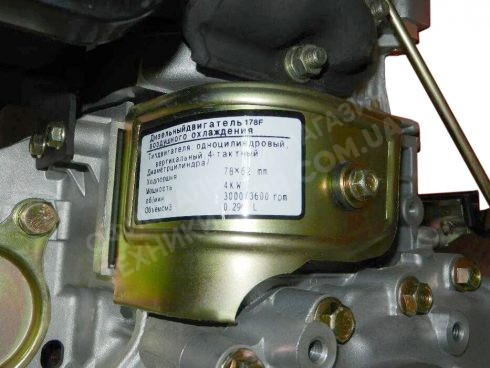 Фото 5 Двигатель Зубр 178F (дизель, 6.0 л.с., вал 25 мм., шлиц)
