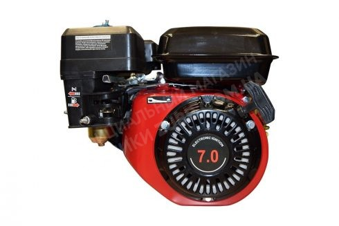 Фото 1 Двигатель Зубр 170F-1 (бензин, 7.0л.с., вал 19мм, шпонка)