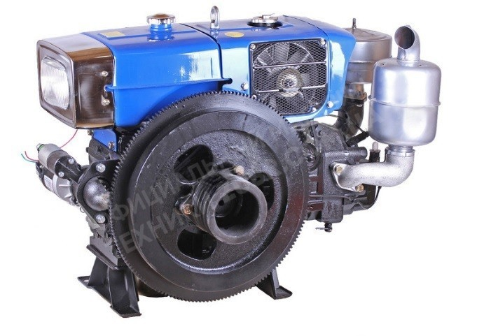 Фото Двигатель Зубр  ZH1125N (дизель, 30.0 л.с.,  электрозапуск)