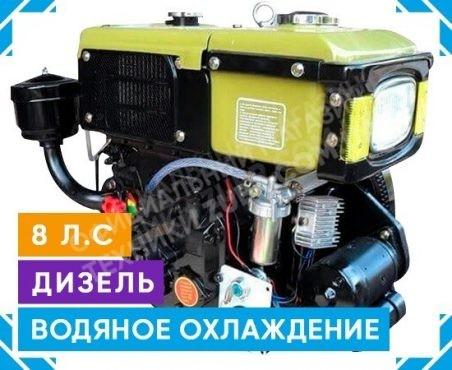 Фото 1 Двигатель Зубр R180NM (дизель, 8.0 л.с., электрозапуск)
