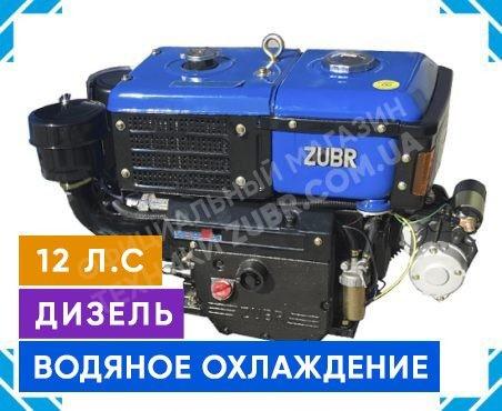 Фото 1 Двигатель Зубр R195NM (дизель, 12.0 л.с., электрозапуск)